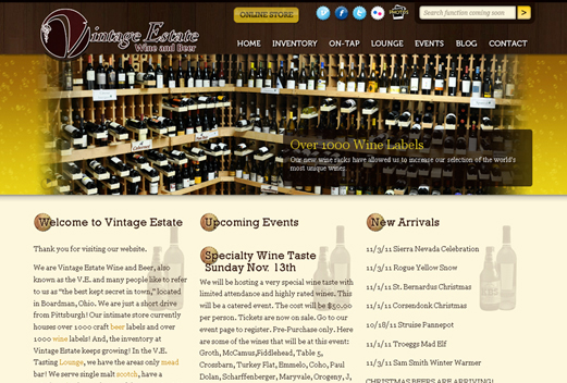 Vintage Estate Wine and Beer